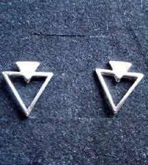 Triangl srebrne mindjusice, S925 NOVO