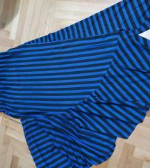 Asimetricna Zara suknja royal plava