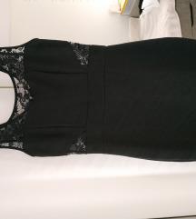 Crna haljina sa cipkom