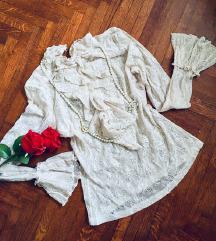 Zara viktorjanska cipkana majica