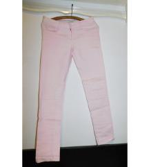 Denim svetlo roze pantalone