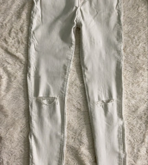 Uske duboke bele pantalone