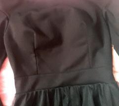 Bordo i crna haljina