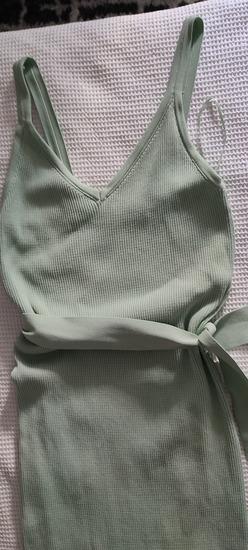 Mint zelena haljina od trikotaze
