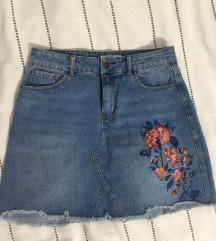 Teksas suknja sa vezom SNIZENA NA 900