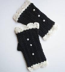 Vintage heklane rukavice bez prstiju