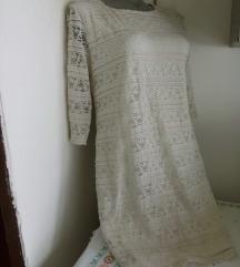 Bez ravna cipkana haljina M