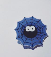 Halloween Spider ljubičasti broš