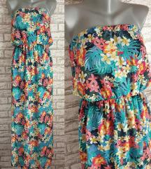 NOVA C&A Cvetna top haljina M/L