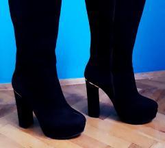Crne duboke cizme  SNIZENJE