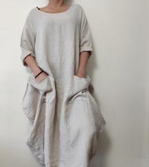 ITALY maxi oversized 100% lan haljina NOVO