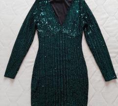 Zelena haljinica sljokicava SNIZENO 2500