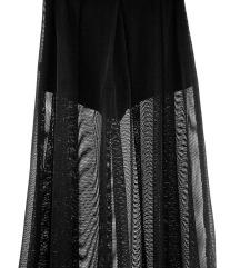 Crna sorts suknja mrezasta S