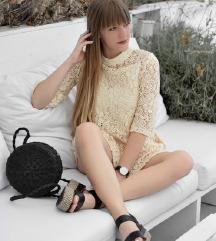 Elegantna Haljina od pamucne cipke NOVO