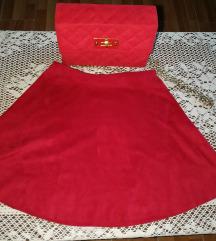 Crvena suknjice od eko koze