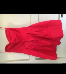 % SNIZENJE % Crvena korset haljina NOVO