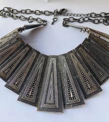 Tribal srebrna ogrlica