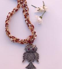 🌸 nova sova  ogrlica, ručni rad
