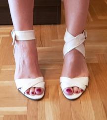 Hugo Boss bele krem sandale