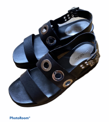 DIESEL kožne sandale sa nitnama