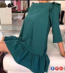 Zelena leprsava letnja haljina