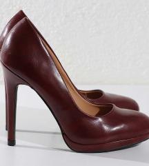 Bordo cipele na štiklu