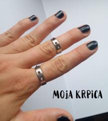 Unisex punk metal bodlja prsten