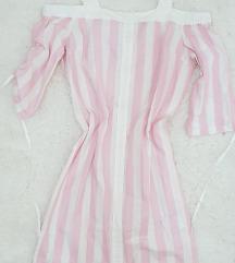 Roze bela haljina