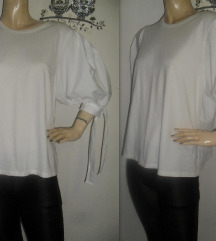H&M majica sa puf rukavima!!