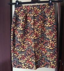 vintage sarena suknja