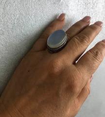 prsten RAINBOW DICHROIC duga plave boje