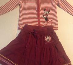 Dzemper -jaknica i suknja Mini Maus, komplet, 122