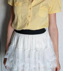 Žuta košulja kratkih rukava, veličina S