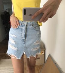 Atraktivna teksas suknja