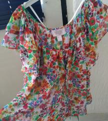 H&M Garden bluza tunika cvetna NOVO