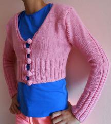 Roze bolero pleteni