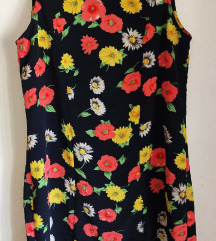 Vintage UNIKAT cvetna haljina  vel. L