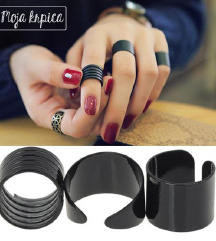 Trodelni set crnog prstenja