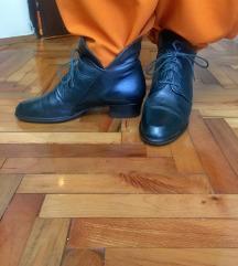 Ženske kožne crne duboke cipele