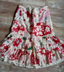 Suknja cvetnog dezena 36