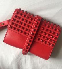 Zara mini clutch kožna torbica