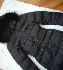 TODOR jakna, perje i prirodno krzno, vel S-M