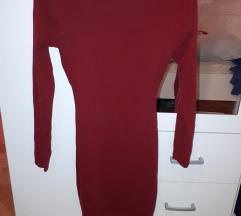 Bordo haljina otvorenih ledja