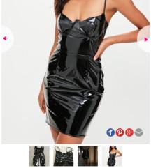 Latex corset sexy haljina S