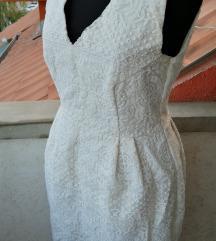 Hm mlecno bela haljina