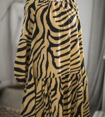 Zuckastonarandzasta HM haljina u zebra printu