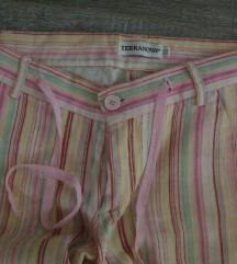 Lan prugaste letnje pantalone Terranova+ suknjica
