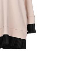 MM6 MAISON MARGIELA roza haljina s kapuljačom