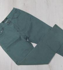 MAX & LIU jeans zelene farmerke vel. M