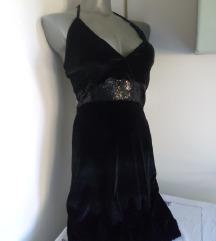 By-Metto crna plisana haljina S